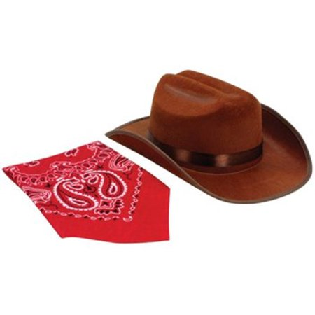 Junior Cowboy Hat With Bandanna - Inflatable Cowboy Hat