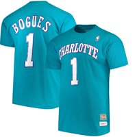 Muggsy Bogues Charlotte Hornets Mitchell & Ness Hardwood Classics Retro Name & Number T-Shirt - Teal