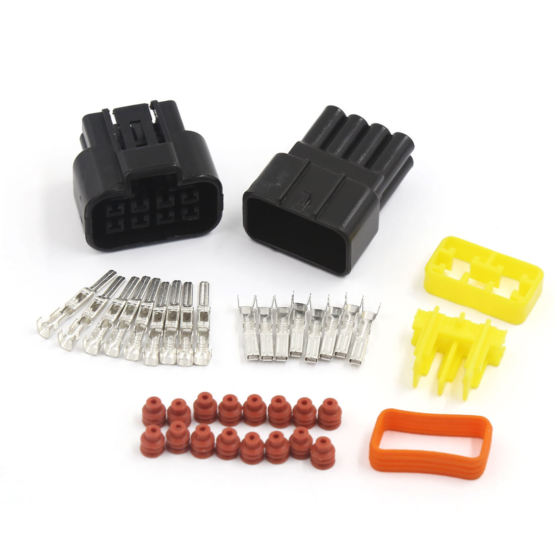 Unique Bargains1 Kit 8 Pin Way Waterproof 2.3mm Wire Connector Socket Car Sealed Electrical Set
