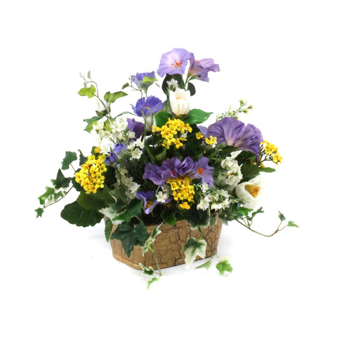Dalmarko Designs Mixed Floral in Planter