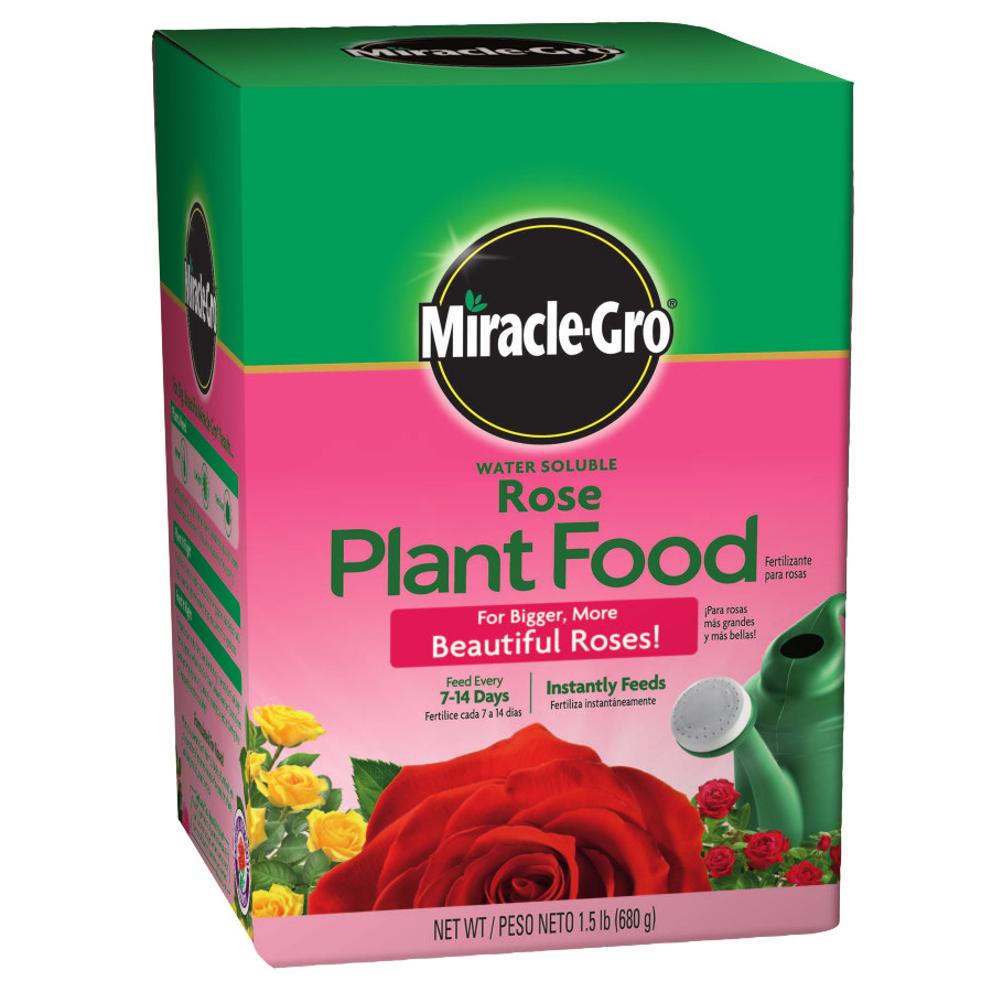Miracle-Gro Water Soluble Rose Plant Food, 1.5 lbs