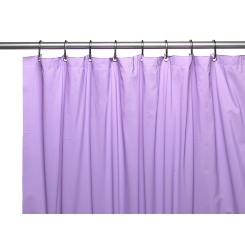 Hotel Collection, 8 Gauge Vinyl Shower Curtain Liner w/ Weighted Magnets and Metal Grommets in Lilac