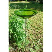 Achla Designs 12 in. Crackled Glass Bird Bath