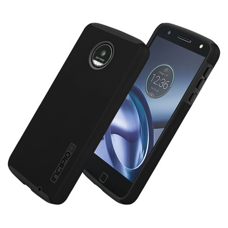 online retailer 15ec3 db923 Incipio DualPro Shock-absorbing Case for Moto Z Play Droid - Black/Black