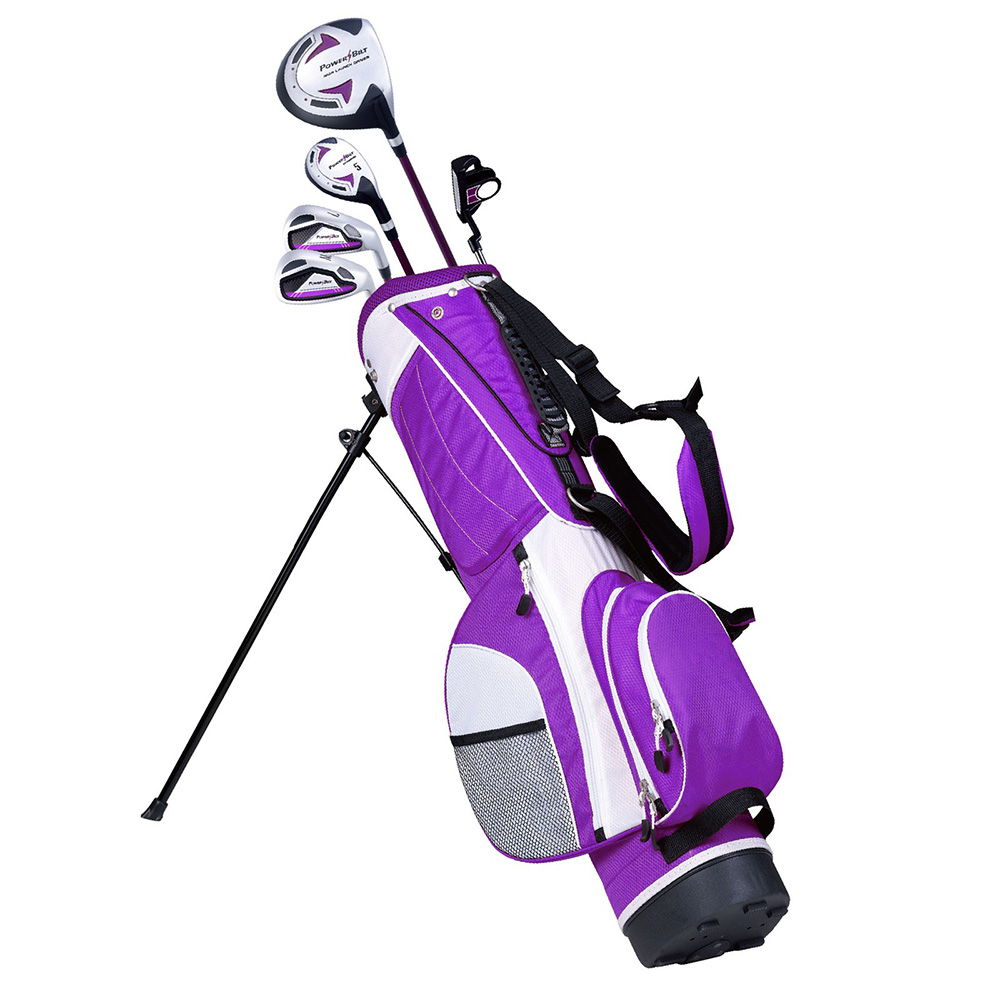 NEW PowerBilt Lavender Series Junior Golf Set Driver Hybrid Iron Putter Bag