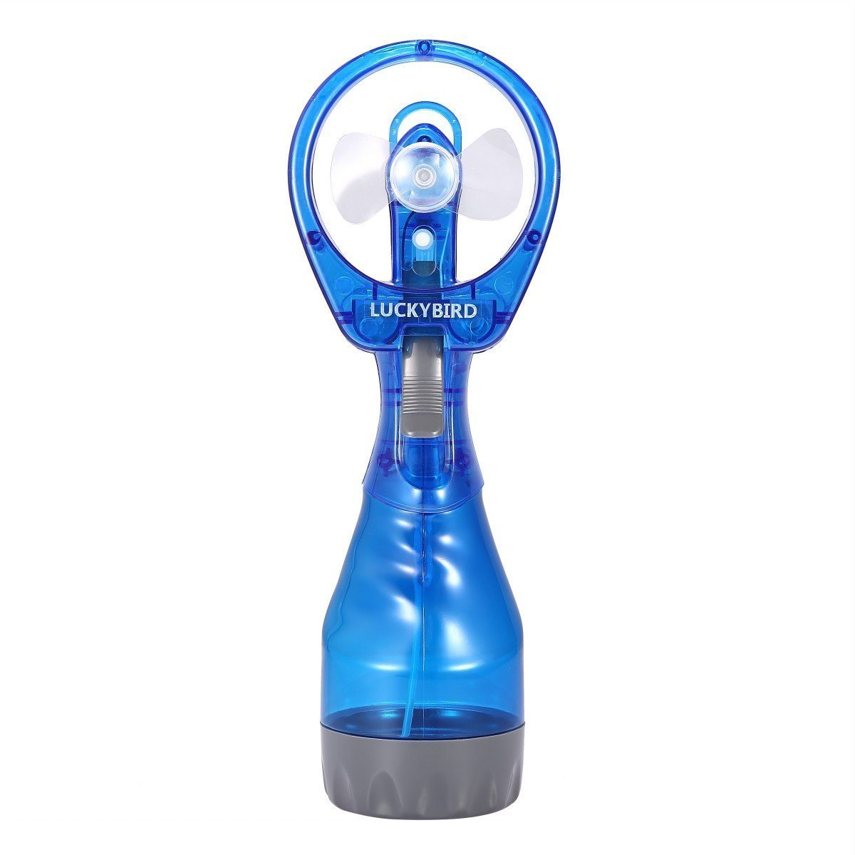 Misting Fan, Luckybird Deluxe Handheld Water Misting Fans (Blue)