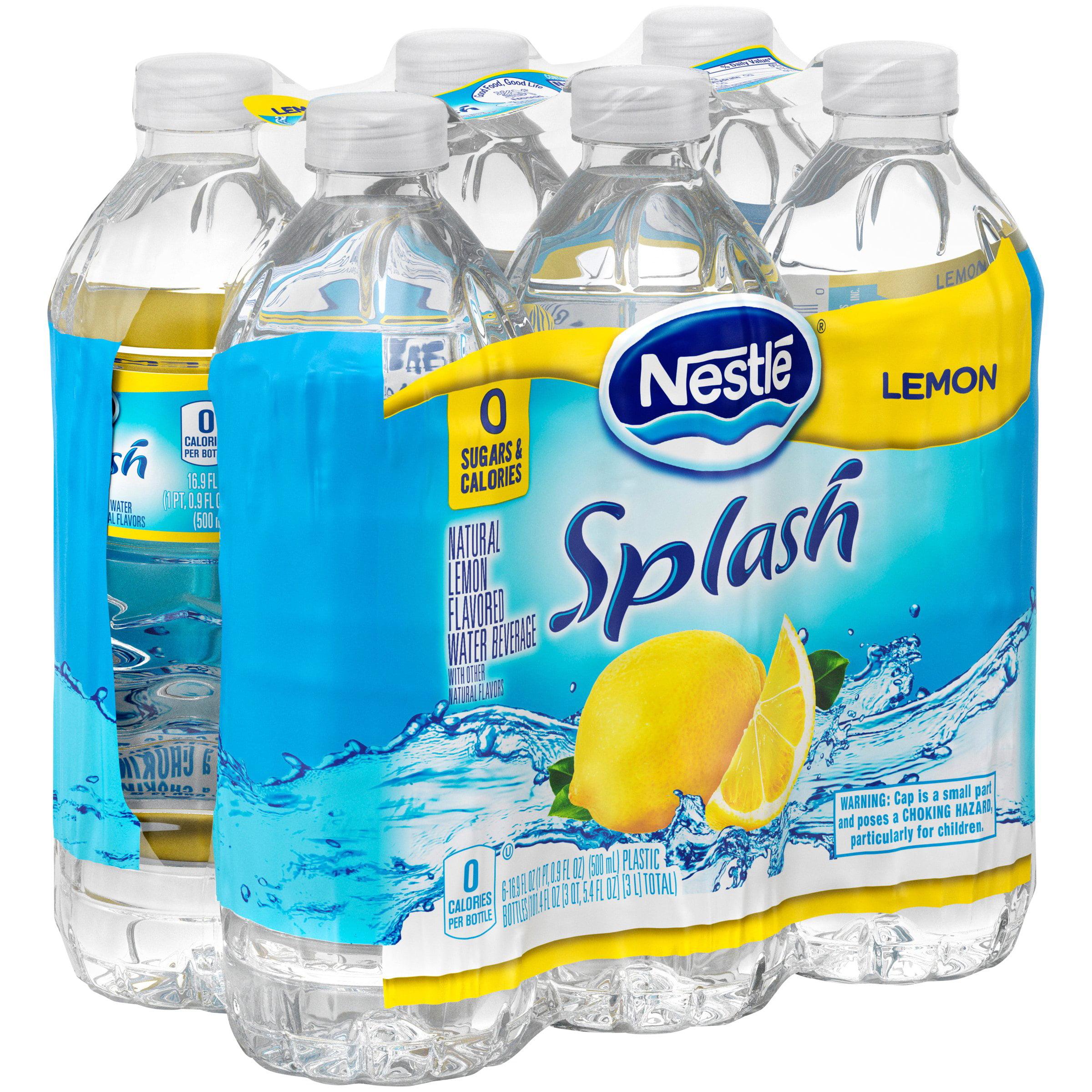 Nestle Splash Lemon Flavored Water, 16.9 Fl. Oz., 6 Count