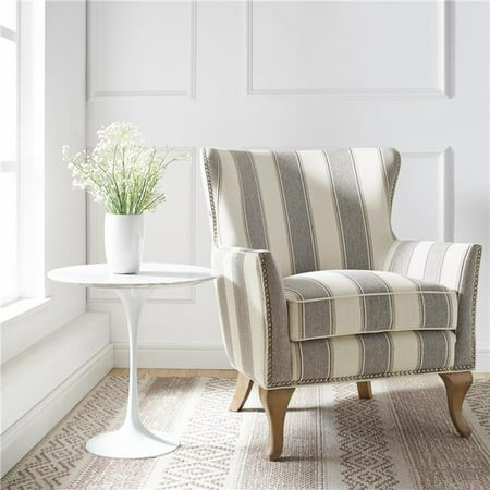 Dorel Living Reva Accent Chair Gray Striped Walmart Com