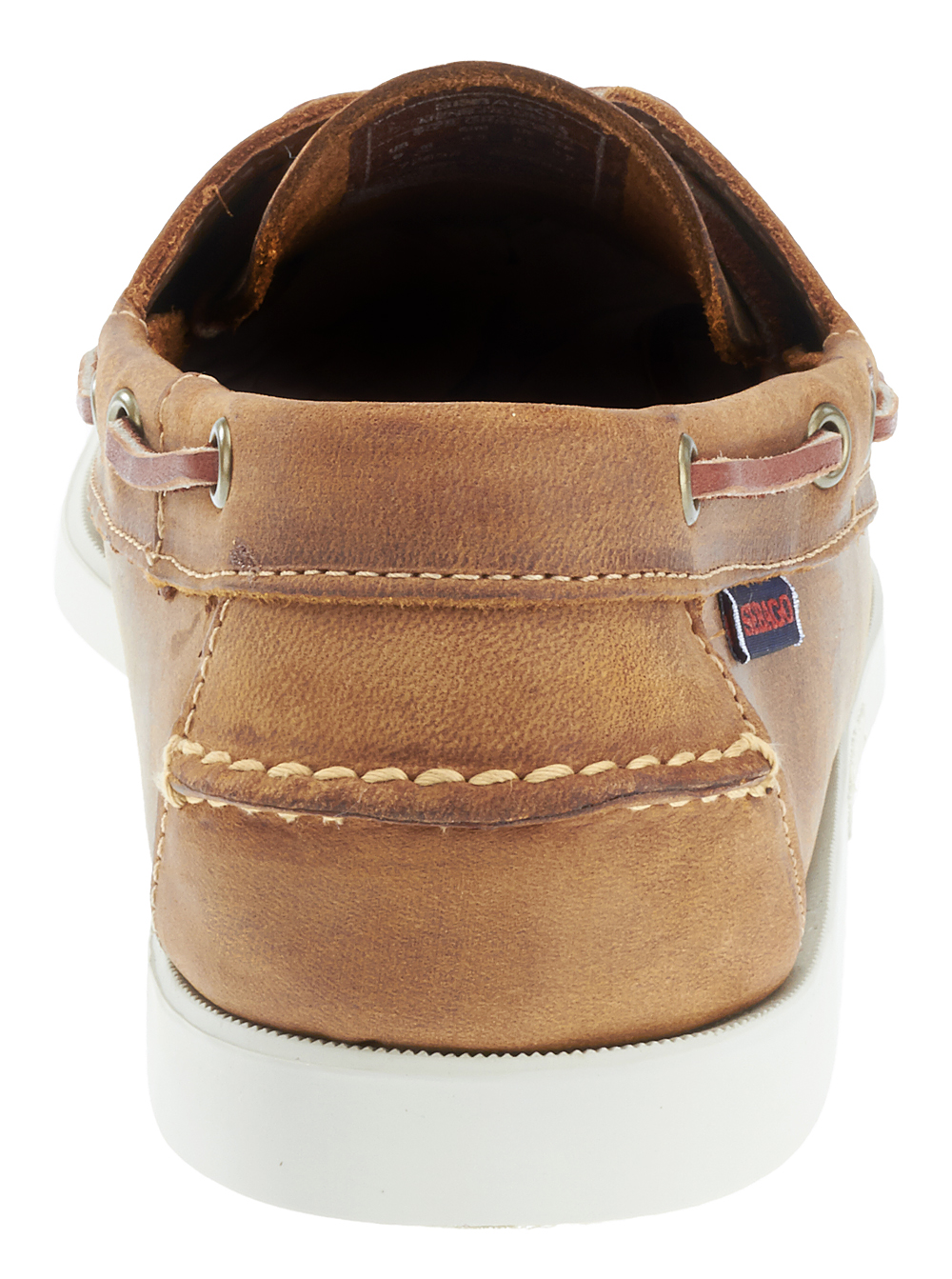 Sebago Mens Docksides Leather Boat Shoes in Brown