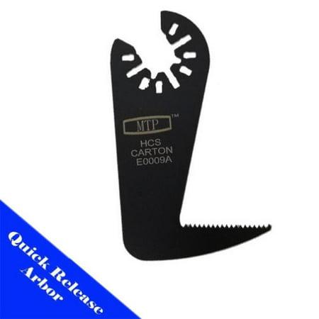 MTP ® JAB Saw Blade   Quick Release Arbor Universal Fit Multi Tool Oscillating Multitool Wood Saw Blade for Craftsman  Ridgid  Porter Cable Black & Decker Dewalt Fein Bosch