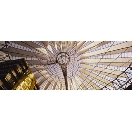 Low angle view of the roof of a building Sony Center Berlin Germany Canvas Art - Panoramic Images (15 x (Angle Roof)