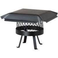 Draft King Single-Flue Black Galvanized-Steel Round Slip-in Welded-Leg Chimney Flue Chimney Cap