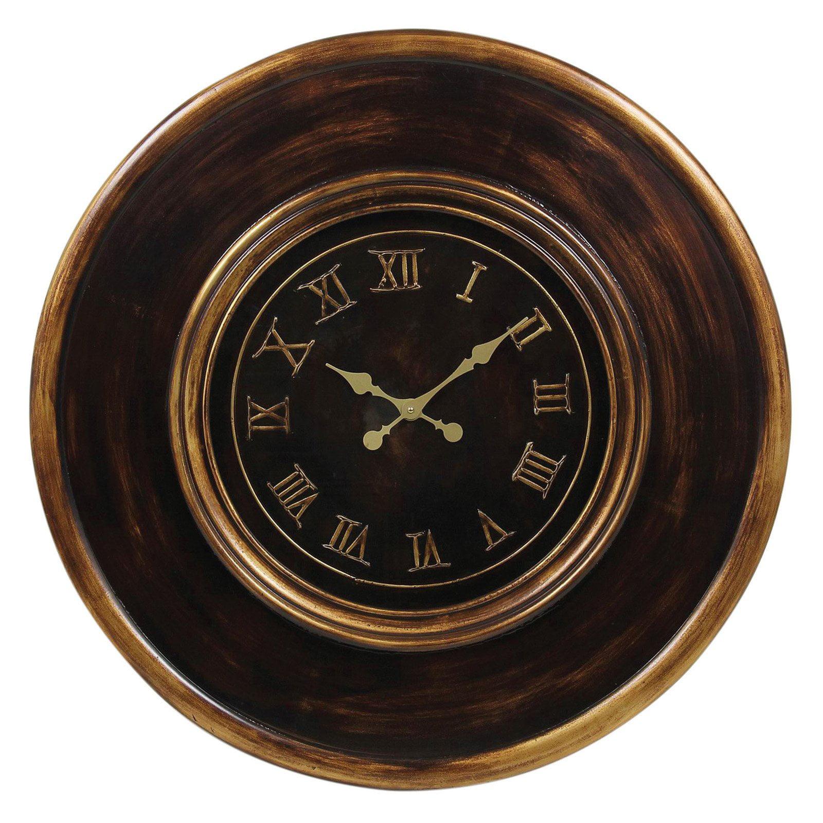 decmode wood wall clock 36 diam in walmart
