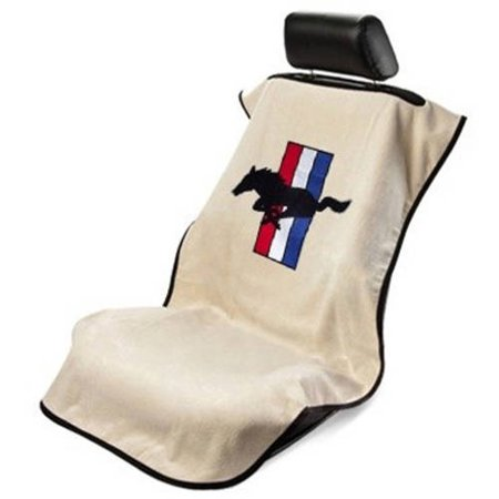 SeatArmour Mustang Pony Tan Seat (Mustang Sportster Seat)