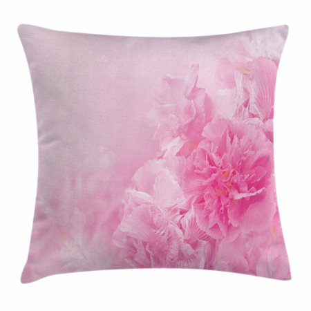 Shabby Chic Baby (Light Pink Throw Pillow Cushion Cover, Spring Flowers Close Up Florets Bouquet Elegance Beauty Wedding Shabby Chic Print, Decorative Square Accent Pillow Case, 18 X 18 Inches, Baby Pink, by Ambesonne )