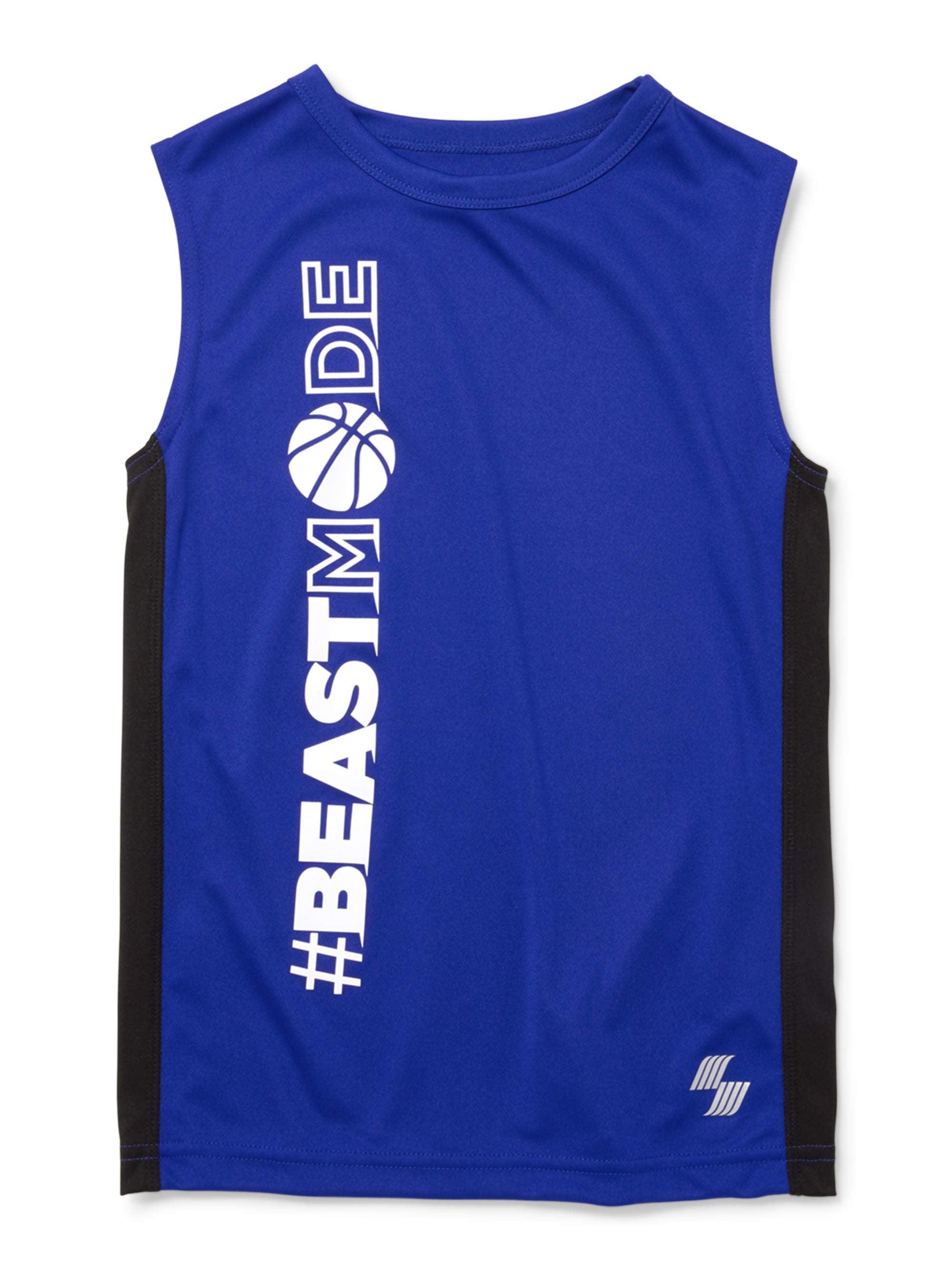 """#BeastMode"" Basketball Muscle Tank Top (Big Boys)"