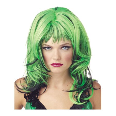 Wigs Same Day Shipping (St Patrick's Day Wig  Green - Red - Blue or Pink Color:)