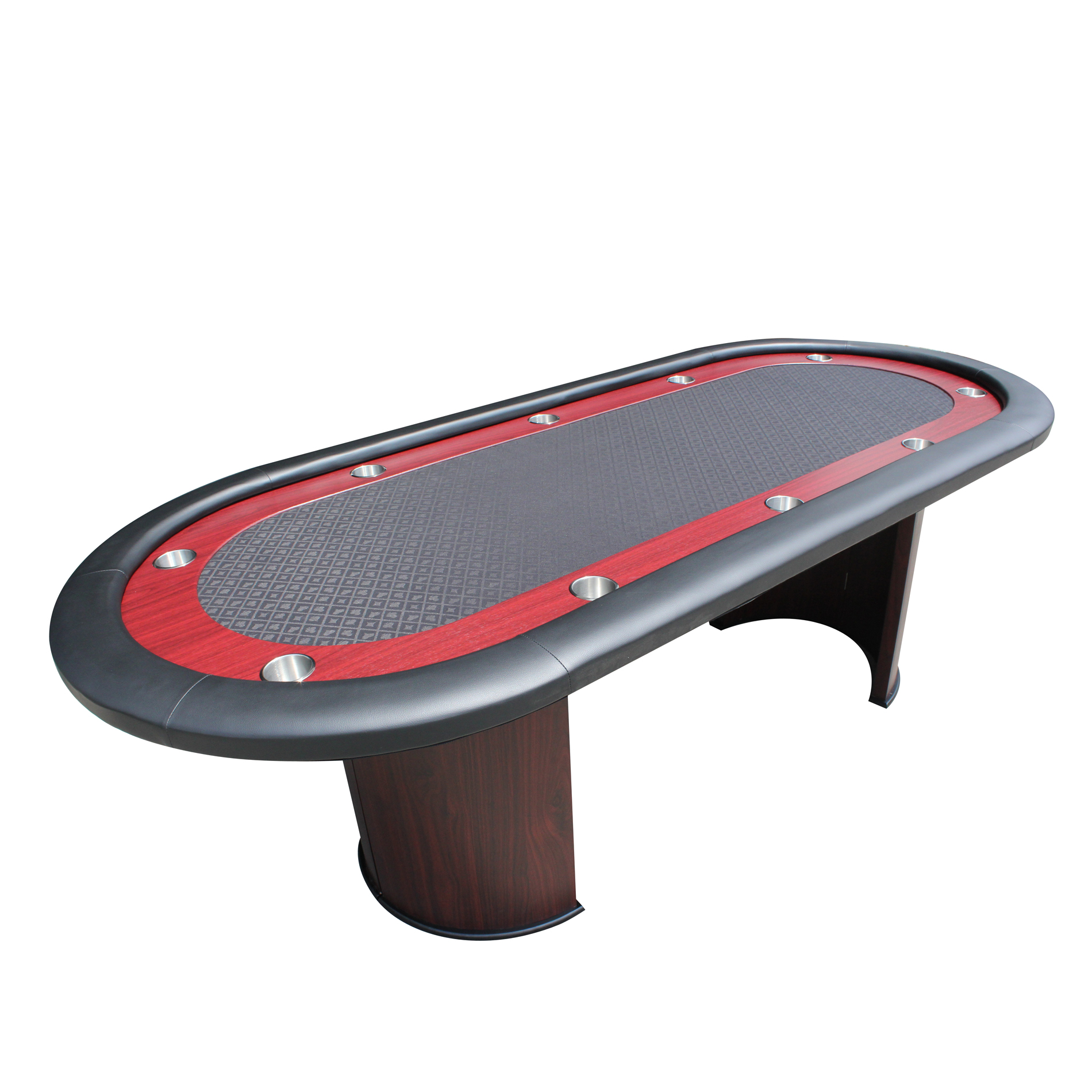 IDS POKER Texas Hold\'em Poker Table For 96 x 43 Inch Oval 10 Players ...