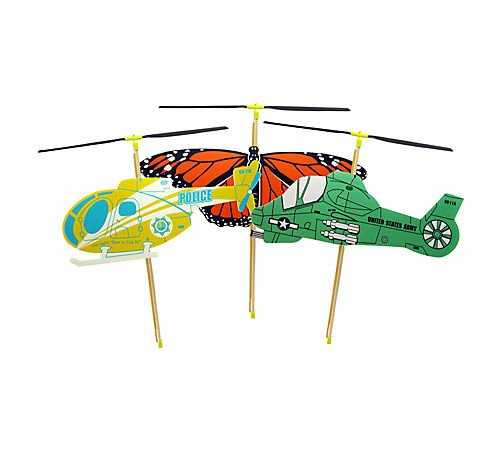 Copter Toy (24) Multi-Colored by GUILLOW
