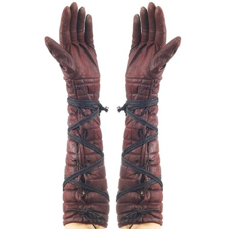 Adults Faux Leather Medieval Renaissance Knight Hunter Archer Gloves - Renaissance Medieval Clothing