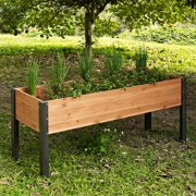 """Coral Coast Bloomfield Wood Raised Garden Bed - 70"""" L x 24"""" D x 29"""" H"""