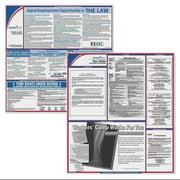 COMPLYRIGHT EFEDSTCRPSECMA Labor Law Poster Kit,MA,English,2-1/2inW G1879215