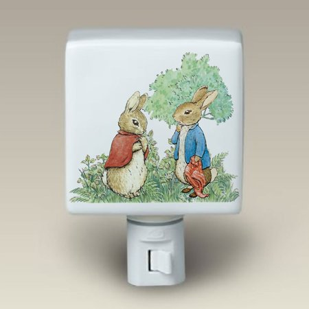Room Decor Ceramic Porcelain Night Light (Nightlight), 3 inches by 4.5 inches By Peter Rabbit