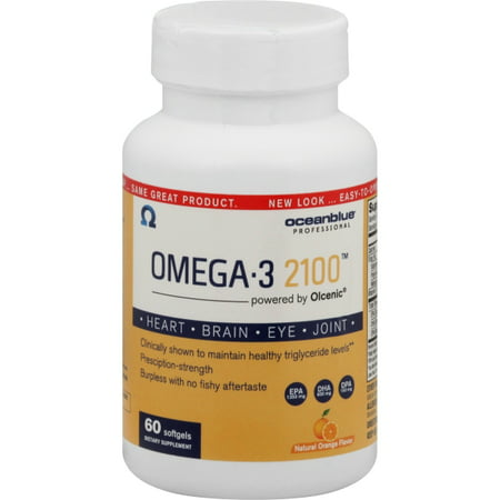 Ocean Blue Professional Omega-3 2100 with Olcenic Softgels, 60
