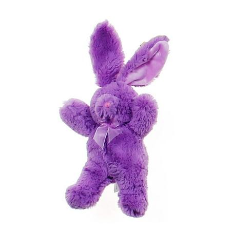 Animal Adventure Super Soft Plush Fuzzy Solid Bunny W Matching Ribbon - Fuzzy Animals
