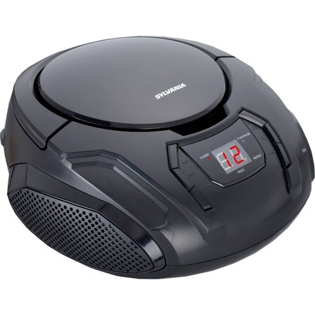 SYLVANIA SRCD261 Portable CD Player with AM/FM Radio (Black) ()