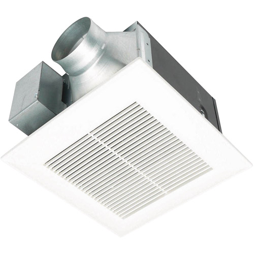 Bathroom Fan panasonic whisperceiling bathroom fan, 110 cfm, <0.3 sone