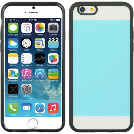 Insten Crystal Black TPU Two Tone PC Rubber Gel Shell Case For Apple iPhone 6 / 6s -