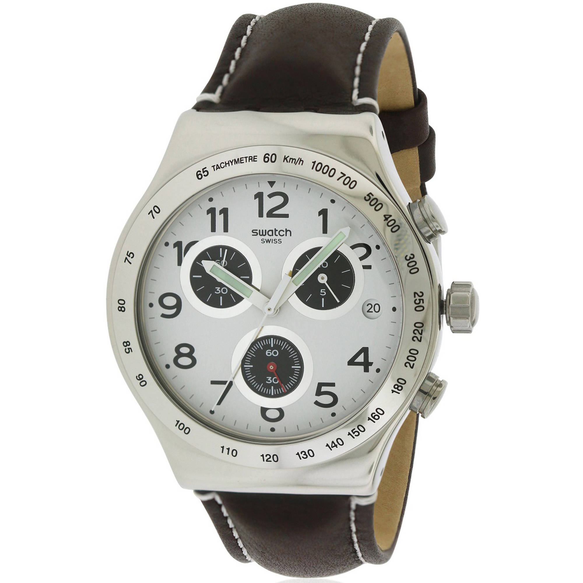 Swatch DESTINATION HAMBURG leather Chronograph Mens Watch YVS432 by Swatch