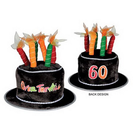 Beistle 60696-60 60 Over-The-Hill Plush Birthday Cake Hat