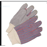 New 12 pair pack size L Grey Leather Gloves with knitted cuff/ Style # US-EWG