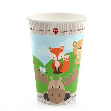 Cold Drinking Cup - Woodland Creatures - Hot & Cold Drinking Cups (8 count)