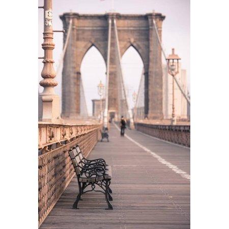 Brooklyn Bridge, New York, United States of America, North America Print Wall Art By Amanda