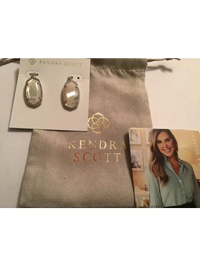 Kendra Scott Dani Silver Drop Earrings In Ivory Pearl
