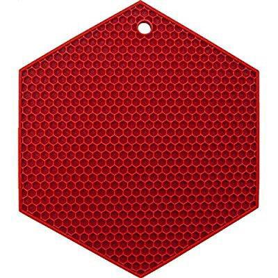 lamson honeycomb hotspot pot holder, 7 x 7, bittersweet, (Silicon Pot Holders)
