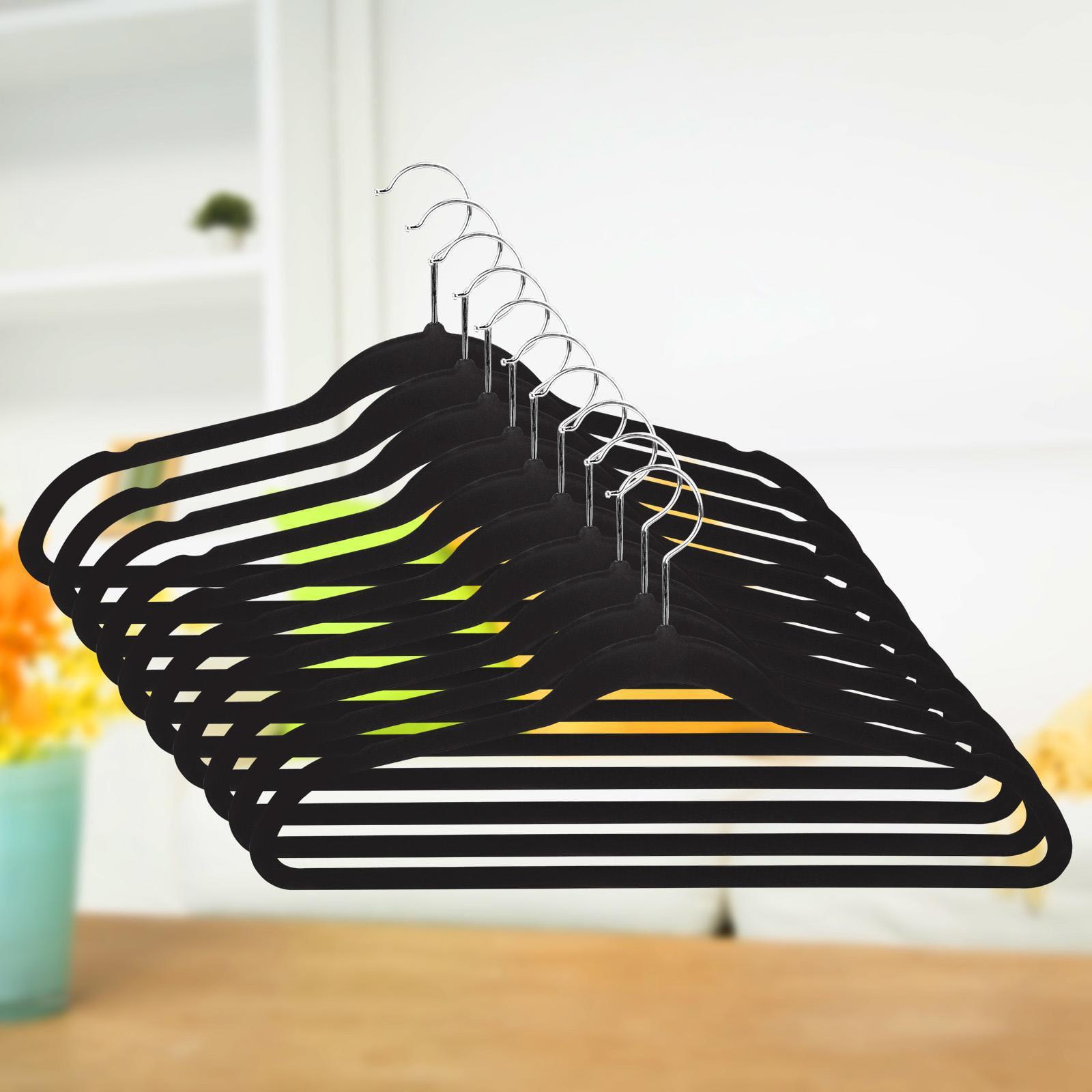 50 PCS Space Saving Clothes Hangers Non-slip Coat Hanger Soft Touch Hangers Set  BYE