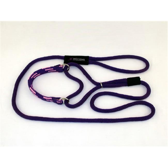 Soft Lines PMM06PURPLE-PINK Martingale Dog Leash 6 Ft. Medium, Purple and Pink