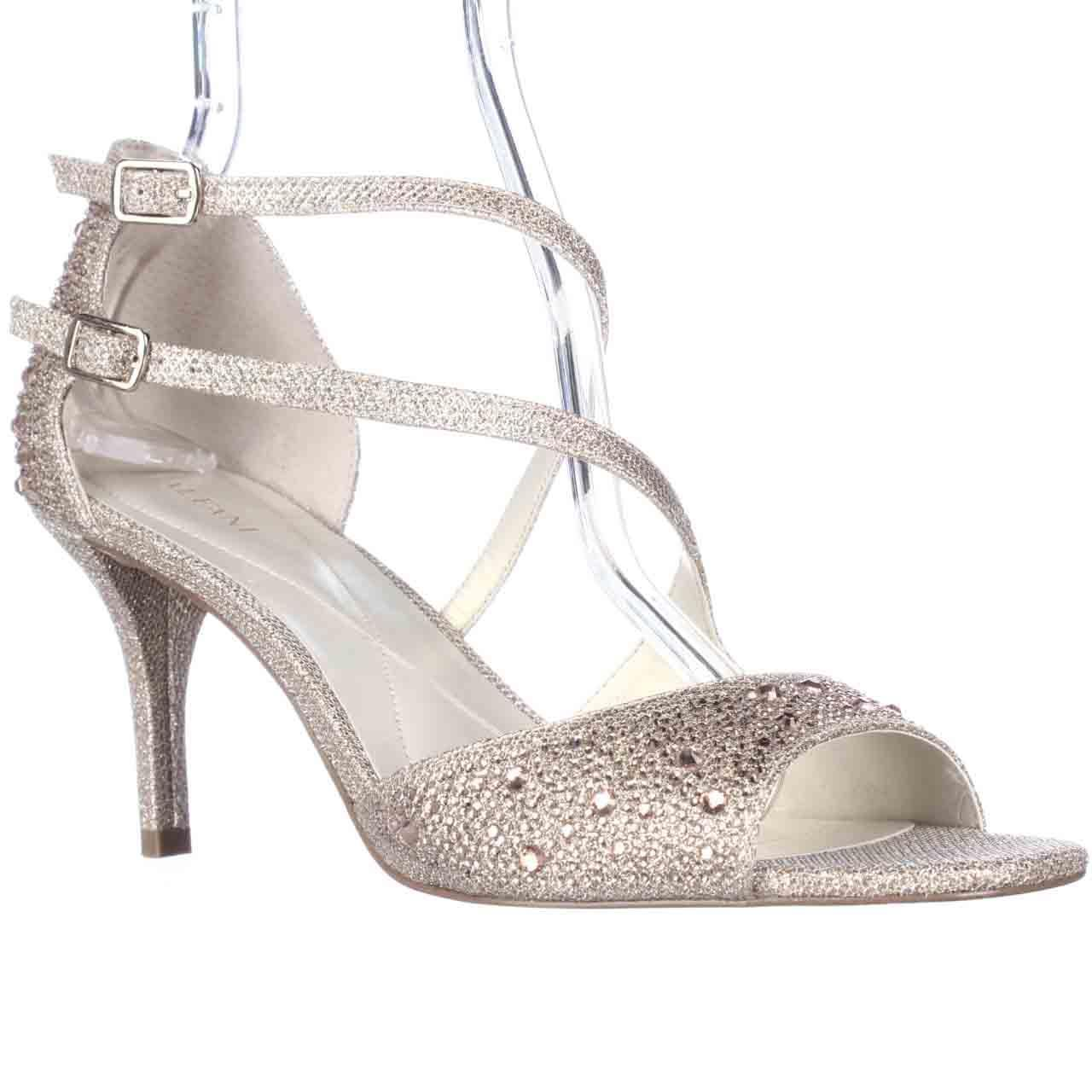 Image of Womens A35 Cremena Sparkle Strappy Dress Sandals, Nude