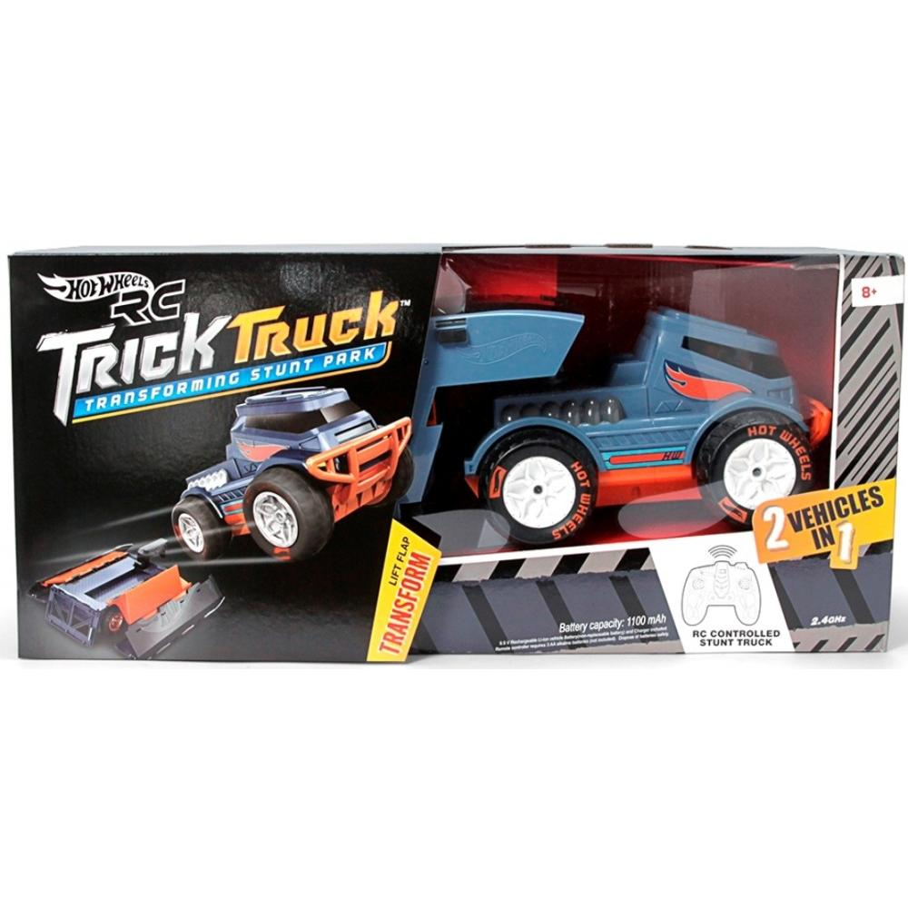 Hot Wheels R/C Trick Truck Transforming Stunt Park Vehicle - Walmart com