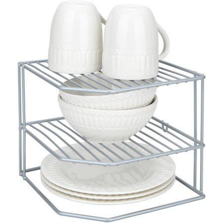 Kitchen Details Corner Storage Rack, Grey (Dims: 10 x 10 x 8 inch)