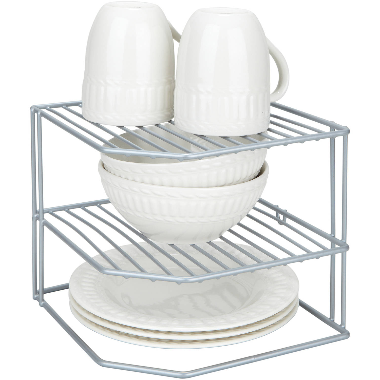 Kitchen Details Corner Storage Rack, Grey