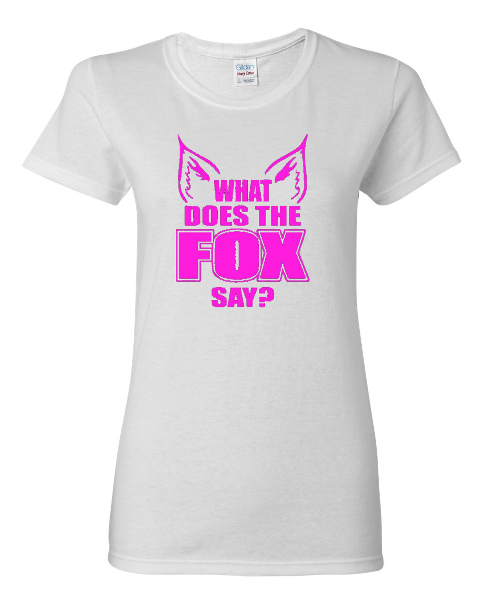 Ladies What Does the Fox Say T-Shirt Tee