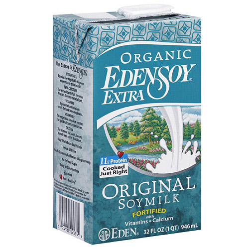 Eden Foods Edensoy Original Extra Organic Soymilk, 32FO (Pack of 12)