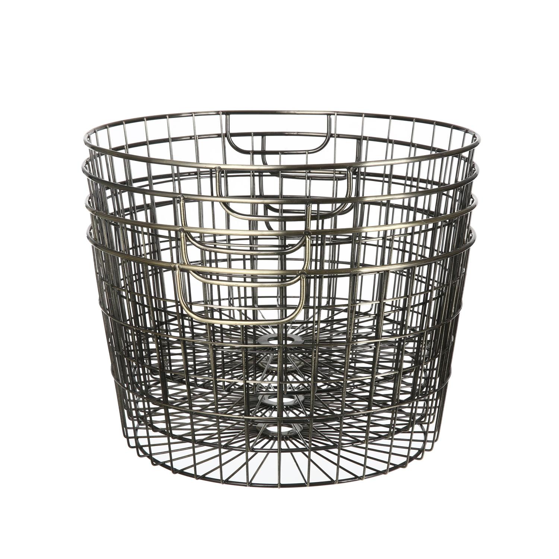 Wire Copper Baskets - 4 Piece Set