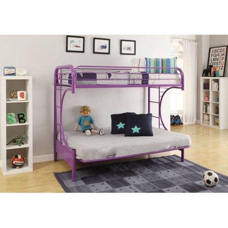 - Eclipse Twin Over Futon Metal Bunk Bed, Multiple Colors - Walmart.com