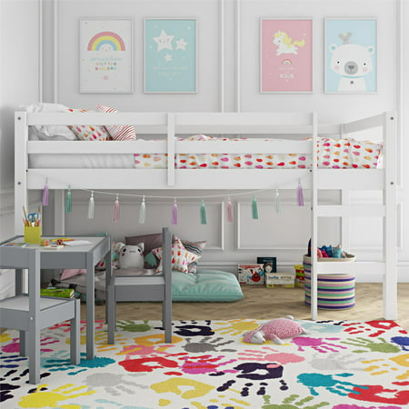 Dorel Living Benson Junior Twin Loft Bed, White